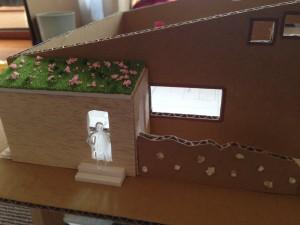 屋根を緑化 ダンボール模型