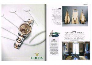 スペイン雑誌 ROLEX 花柄