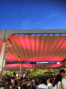 テント ライトアップ